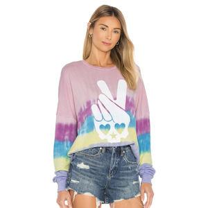 Lauren Moshi Lee Drop Shoulder Sunrise Sweater